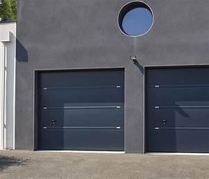 Ensemble porte de garage et portail au design coordonne for Porte de garage de plus portes interieures design