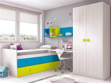 lit gigogne avec bureau chambre ado design complète avec un lit surélevé