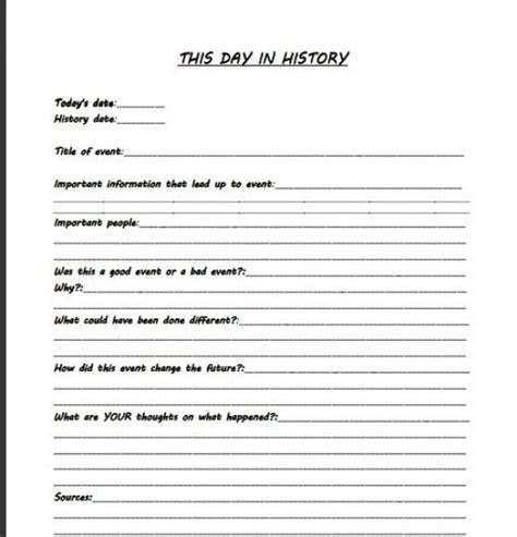 day  history worksheet worldhistory world