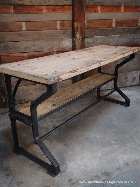 bureau industriel metal bois bureau industriel metal bois maison design bahbe com
