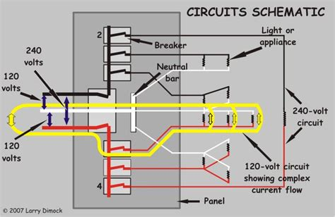 Diagram Circuit Home Yellow Arrows Show Current