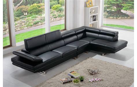 canape tendance canapé tendance en cuir noir 5 places teck in home