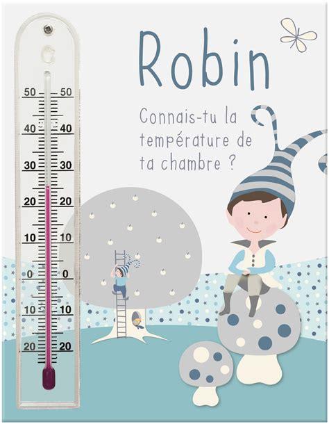 thermometre de chambre cadre thermomètre prénom pour chambre bébé garçon avec
