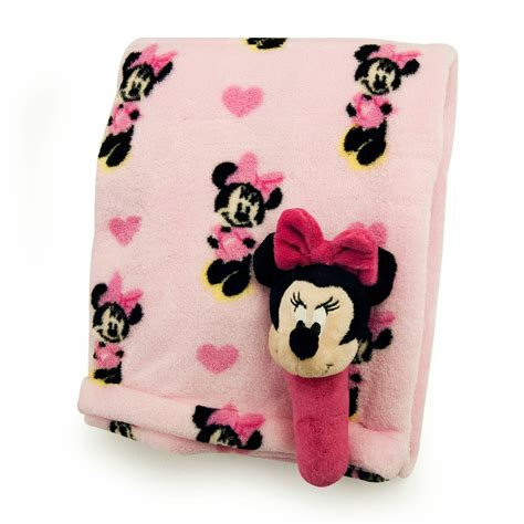 minnie mouse printed blanket and stick rattle in the nursery baby disney minnie mouse