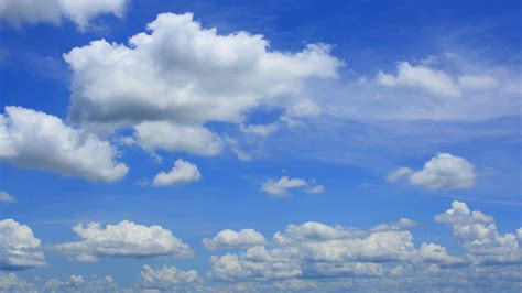 Bleu Sky by Beautiful Blue Cloudy Sky In 4k Stock Footage