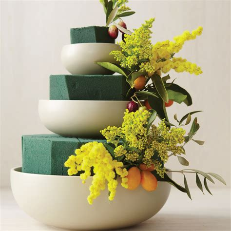 tiered bowl wedding centerpiece   martha stewart