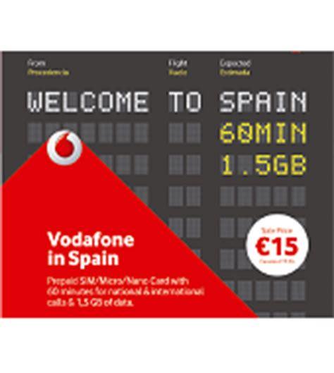 prepaid sim card vodafone  spain