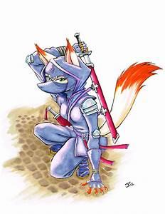 Kitsune Ninja by RisingDragonArt on DeviantArt