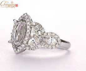 marquise engagement ring settings marquise 5x10mm solid 18kt 750 white gold semi mount setting engagement ring in rings from