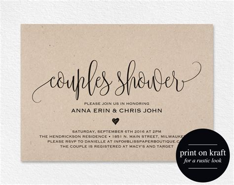 Couples Shower Invitation Couple Shower Wedding Shower