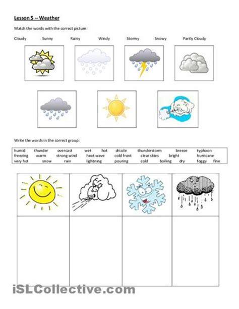 Printable Worksheets, Weather And Esl On Pinterest