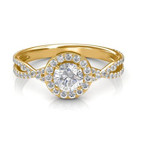 095 Carat 18k Yellow Gold  Zara Engagement Ring