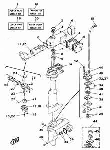1997 Yamaha Repair Kit Parts For 5 Hp 5mshv Outboard Motor