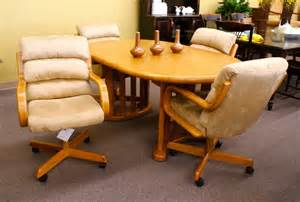 kitchen table chairs with wheels executive leather office