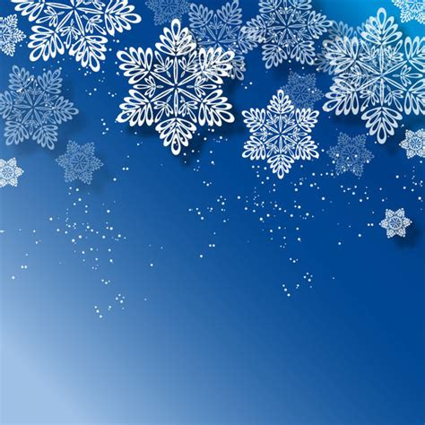 Blue Snowflake Background by Blue Background With White Snowflakes Vector