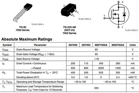 2N7000 Datasheet, 2N7000 PDF, Pinouts, Circuit - National ...