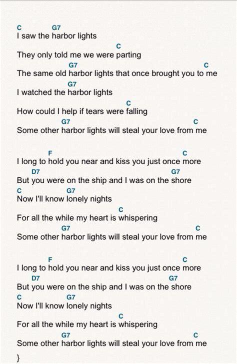 turn down the lights christmas song lyrics harbor lights ukulele chords and lyrics ukulele in 2019 ukulele chords guitar songs