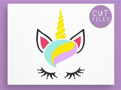 Download free unicorn head vectors and other types of unicorn head graphics and clipart at freevector.com! Unicorn SVG - Unicorn face SVG - Unicor | Design Bundles