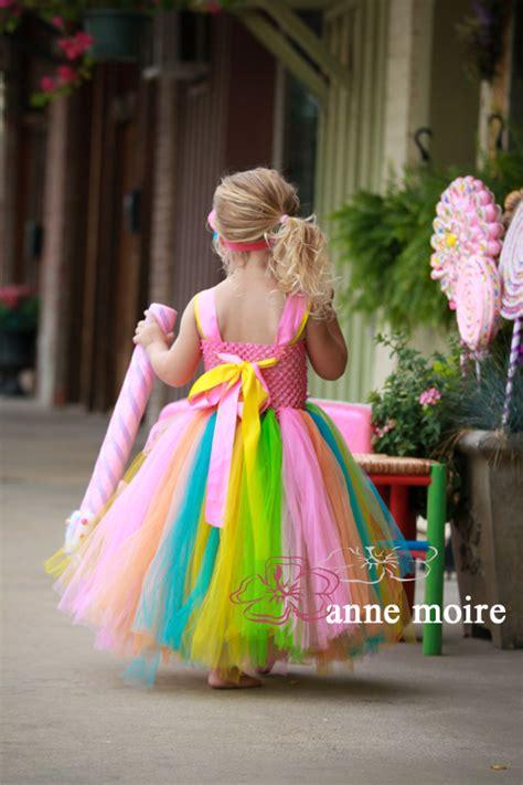 pastel rainbow candy land tutu flower girl dresses  girls