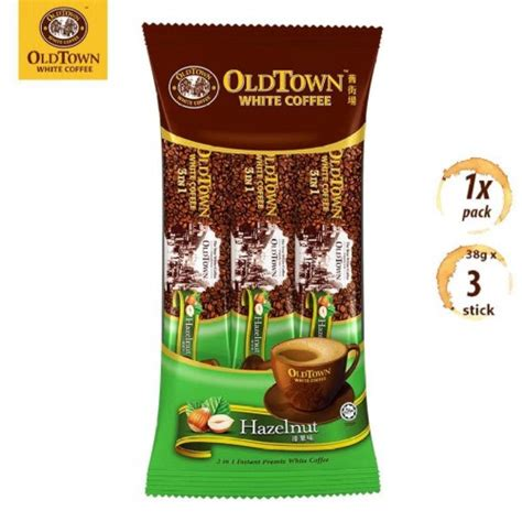 Table of contents coffee bean menu highlight: OLDTOWN White Coffee 3-in-1 Hazelnut Instant Premix Coffee ...