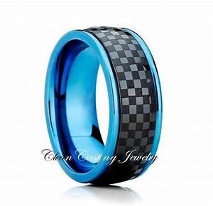 titanium wedding bandblue titanium ringtitanium wedding With blue titanium wedding rings
