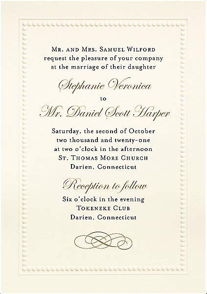 beaded border wedding invitation paper source
