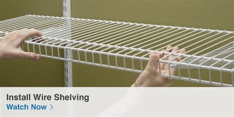 Installing Wire Shelving In Closets by Shop Closet Organization At Lowes