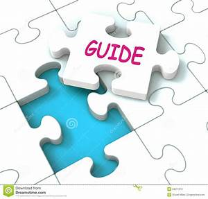 Guide Puzzle Shows Consulting Guidance Guideline And