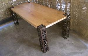 Metal And Woods : scrap metal mango wood table moco loco submissions ~ Melissatoandfro.com Idées de Décoration