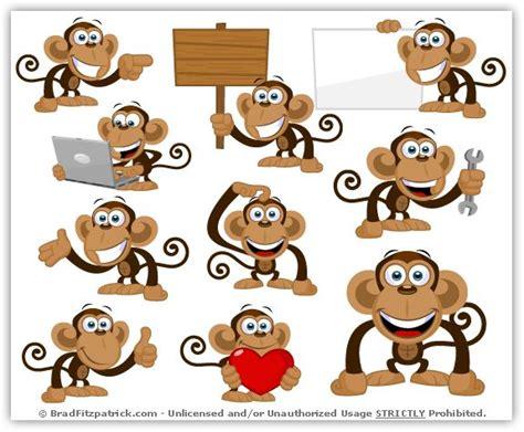 cartoon monkey clipart pack vol  monkey party