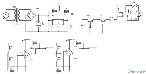 circuit breaker schematic electronic circuit breaker schematic diagram