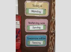 Days of the Week Today is, Yesterday Was, Tomorrow Will