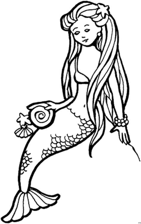 meerjungfrau  ausmalbild malvorlage phantasie