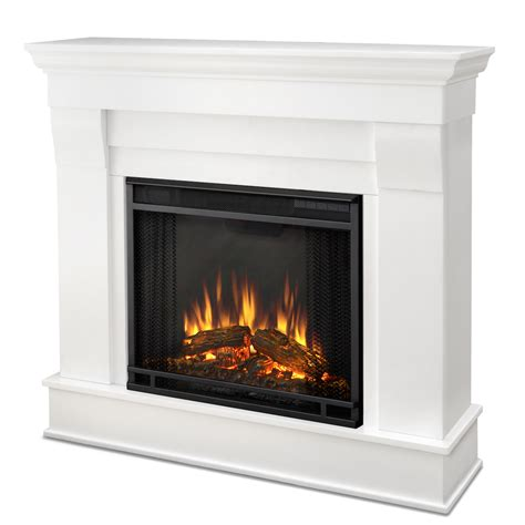 real flame chateau electric fireplace  white