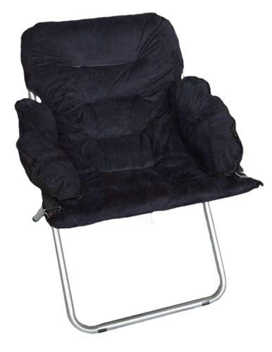 college club chair plush black