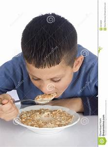 Boy eating breakfast stock photo. Image of school ...