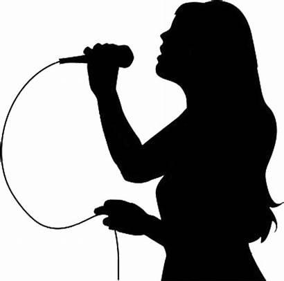 Transparent Karaoke Singing Silhouette Voice Person Clipart