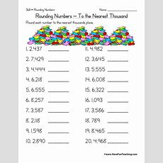 Rounding To The Nearest Thousand Worksheet  Have Fun Teaching