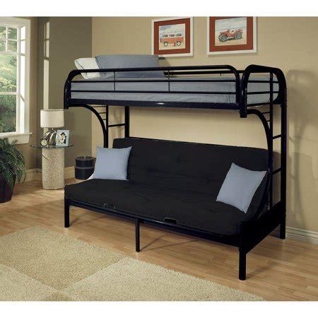 acme eclipse twin xl  futon metal bunk bed black