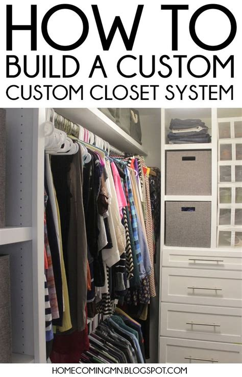 diy closet organization systems organizing