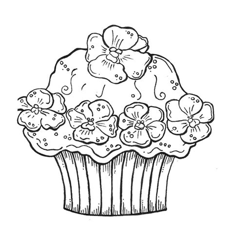 birthday cupcake coloring pages   print
