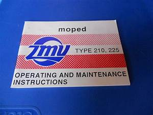 Zmv Owners Manual Moped Type 210 225