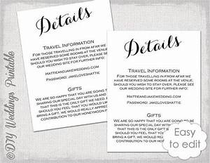wedding details enclosure template diy by With examples of wedding enclosure cards