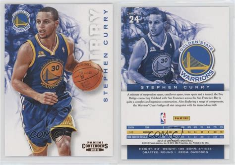 Maybe you would like to learn more about one of these? 2012-13 Panini Contenders 24 Stephen Curry Golden State Warriors Basketball Card   eBay