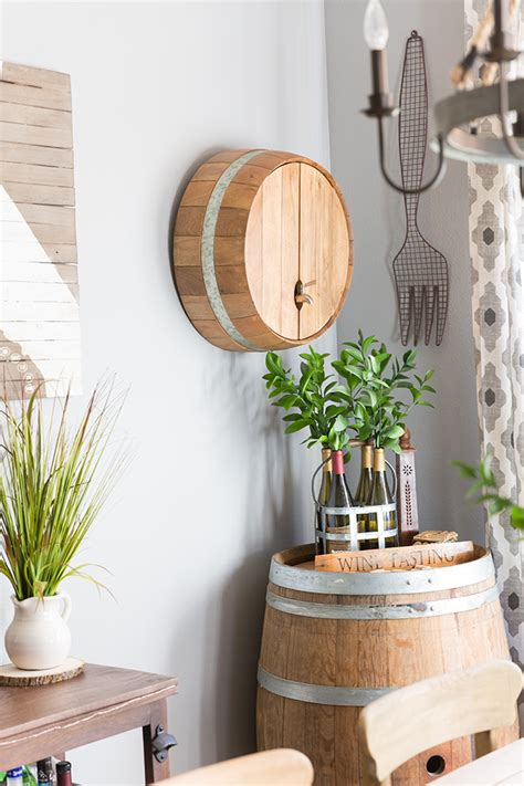 A Rustic Wine Barrel Drink Dispenser  Modish & Main. Mud Room Furniture. Kitchen Themes Decor. Beach House Decorating Ideas. California Decor. Wedding Chair Decorations. Collage Wall Decor. Organizing Sewing Room. Long Wall Decor