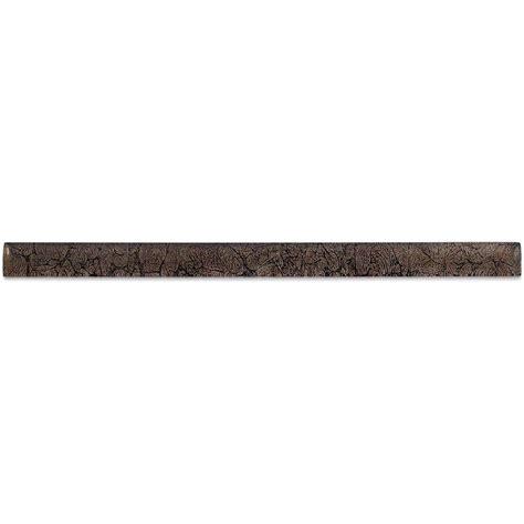splashback tile rust glass pencil liner trim wall tile 0