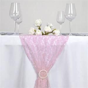 Chemin De Table Rose Pale : floral lace table runner pink efavormart ~ Teatrodelosmanantiales.com Idées de Décoration