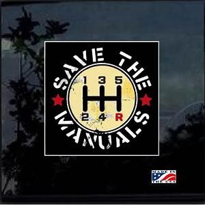 Save The Manuals Full Color Decal Sticker  U2013 Custom Sticker