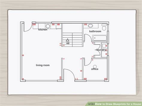 draw blueprints   house  pictures wikihow