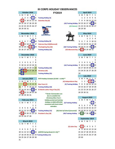 fort hood twitter holiday schedule fiscal year